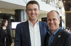 Peter Greste and MPC President Michael Rowland